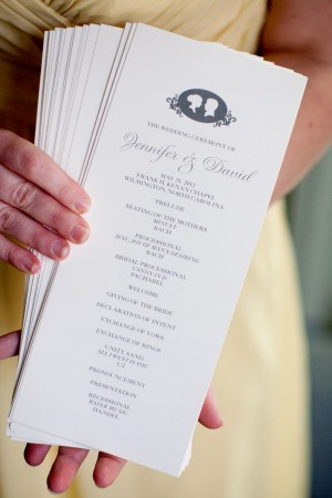 Wedding Program With Silhouettes