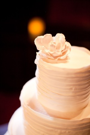 White Frosted Wedding Cake