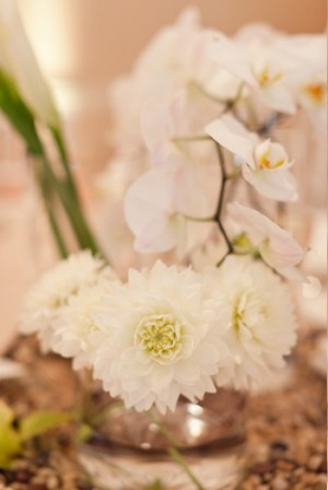 White Orchid Table Decor