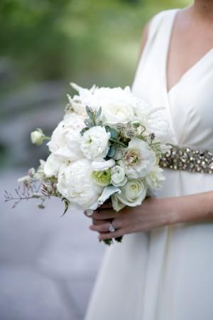 White Peony Bridal Bouqet