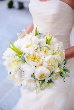 White Peony Bridal Bouquet