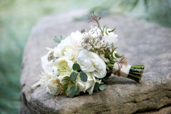 White Peony and Ranunculus Bridal Bouquet