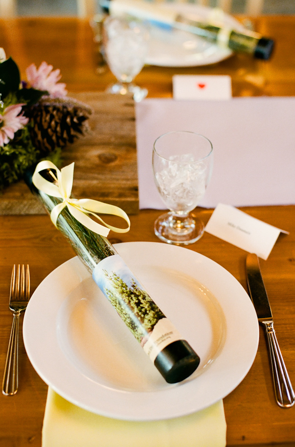 White Pine Tree Wedding Favors