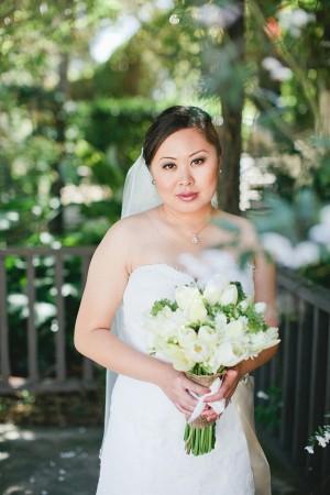 White Tulip Wedding Bouquet 2