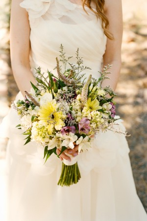 wildflower wedding bouquet rock springs ranch wedding from cross 1412