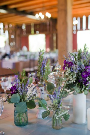 Wildflower Reception Table Centerpieces