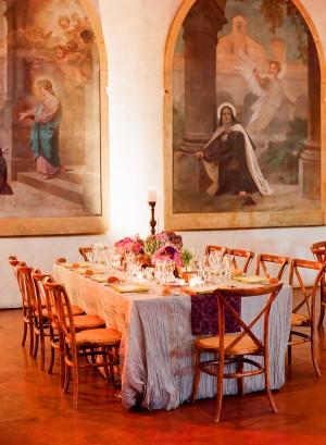 Red Purple Elegant Wedding Tabletop