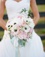 Anemone and Peony Wedding Bouquet