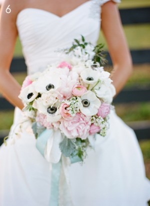 Anemone and Peony Wedding Bouquet