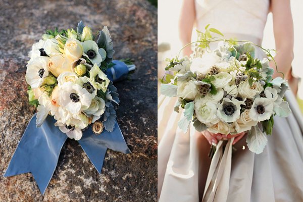 Antique Anemone Wedding Bouquets