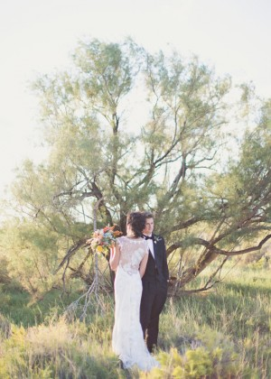 Backless Wedding Dress with Lace