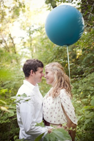 Blue Balloon Engagement Session