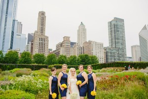 Blue and Yellow Chicago Wedding