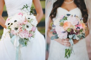 Blush and Coral Wedding Bouquets