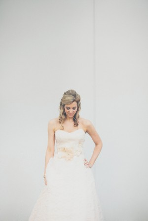 Bridal Gown With Floral Waist Detail