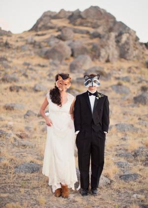 Bride and Groom Masks