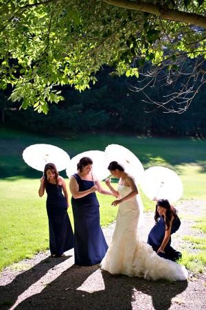 Bridemaids Parasols for Pictures