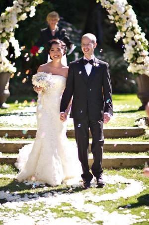 Bubbles In Wedding Ceremony