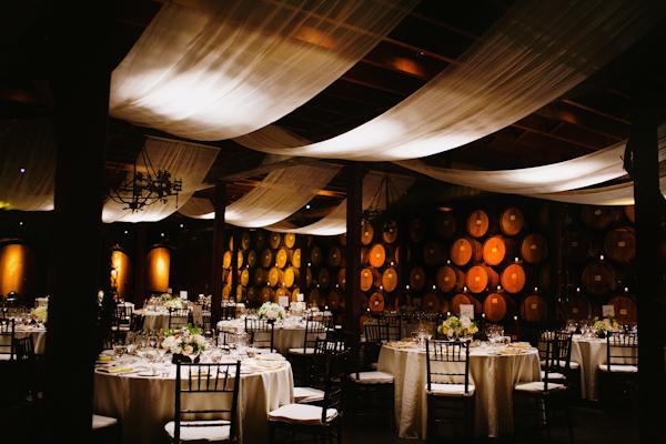 California Winery Reception Tables