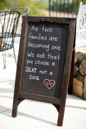 Ceremony Pick a Side Sign