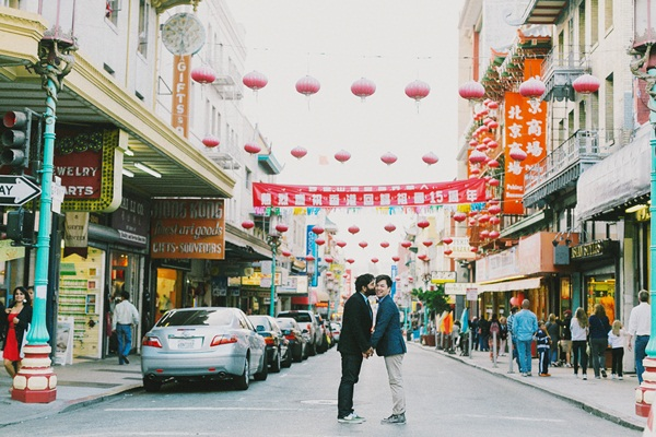 Chinatown Street Engagement Shoot