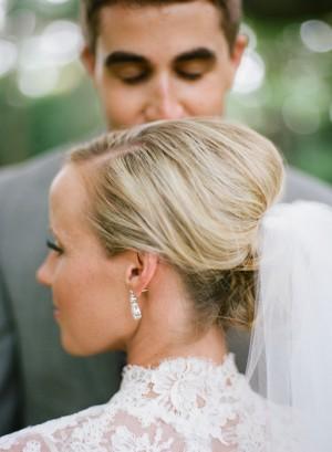 Classic Bridal Bun Hairstyle