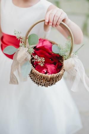 Classic Flower Girl Basket