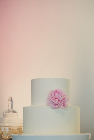 Classic White Two Tier Cake