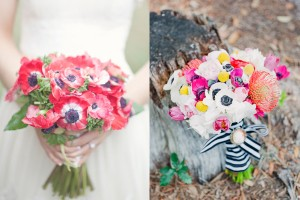 Colorful Anemone Bouquets