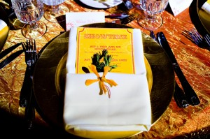 Colorful Wedding Menu
