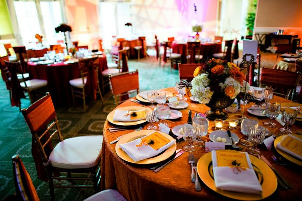 Colorful Wedding Reception