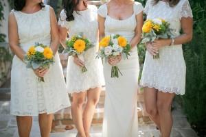 Cream Colored Bridesmaids Dresses 2