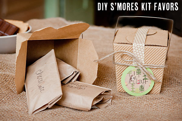 DIY Smores Kits Favors Camping Party ideas