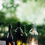 DIY Wine Bottle Luminaries