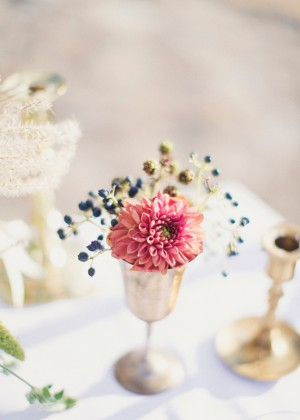 Dahlia and Privet in Vintage Silver