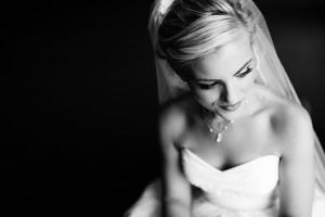 Elegant Black and White Bridal Portrait Bobbi and Mike