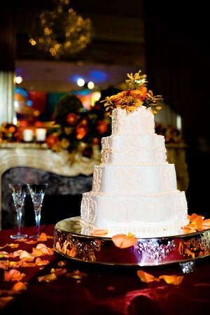 Elegant Fall Wedding Cake
