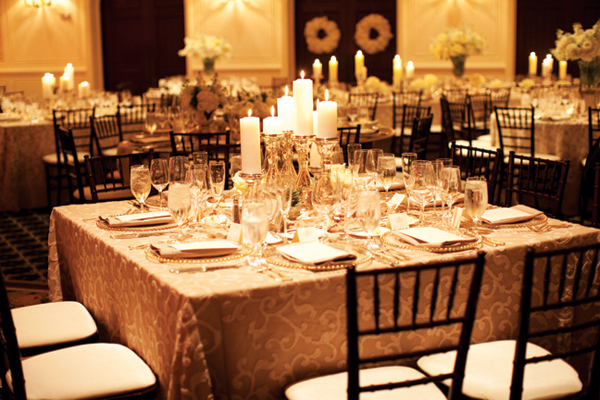Brown And Gold Wedding Ideas: Elegant Gold Brown Wedding Reception