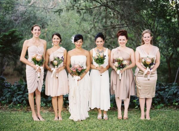 Elegant Natural Bridesmaids