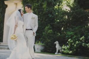 Elegant Peach and Gray Wedding Amy Carroll