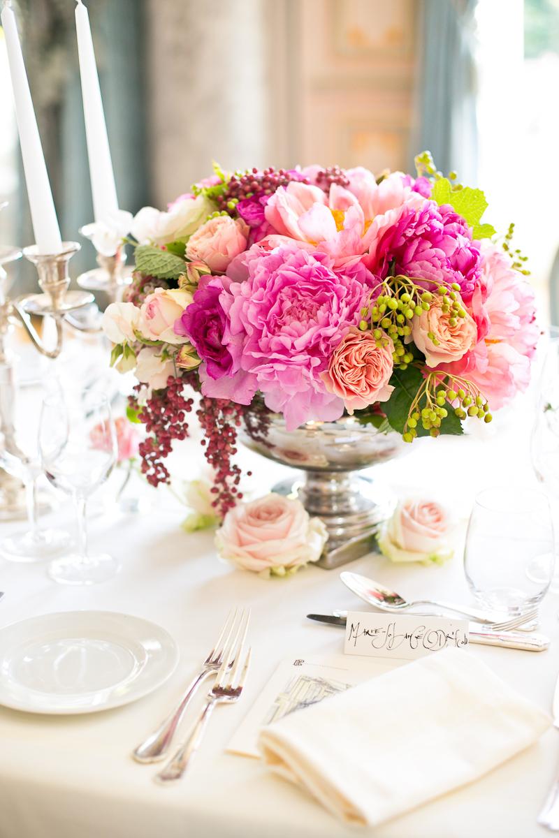 Elegant Pink And Green Wedding Centerpiece - Elizabeth Anne Designs ...