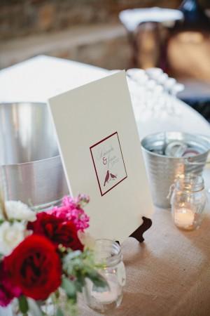 Elegant Red and White Wedding Stationery
