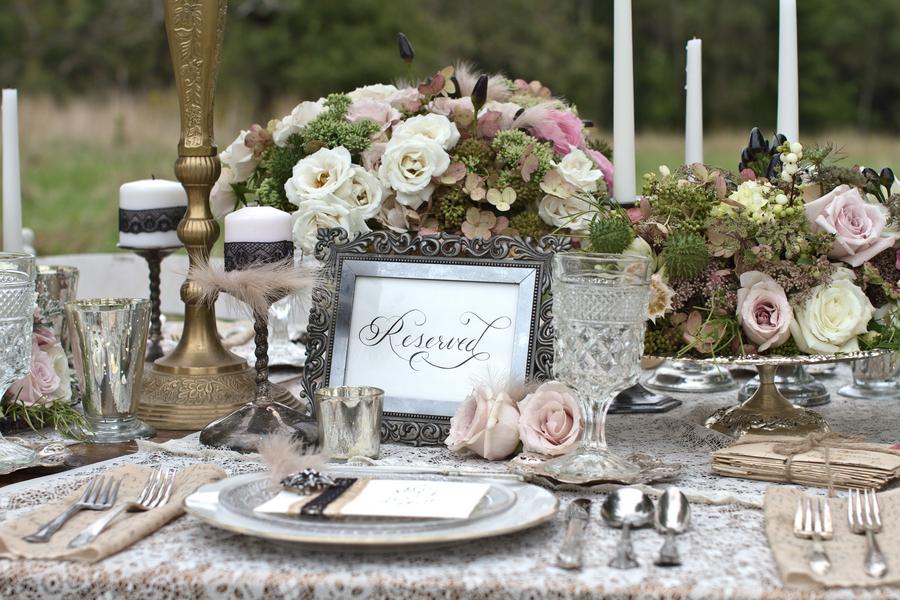 Elegant Vintage Wedding Tablescape by Danielle Pasternak