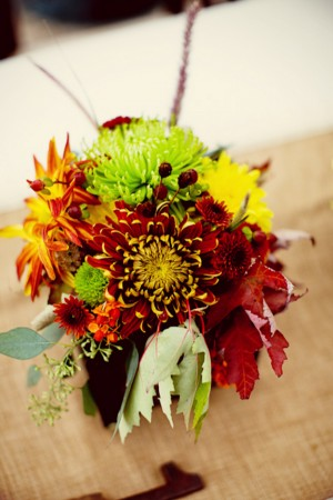 Fall Leaves In Centerpieces