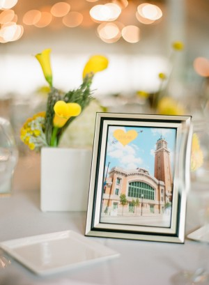 Framed Photo Reception Table Cards