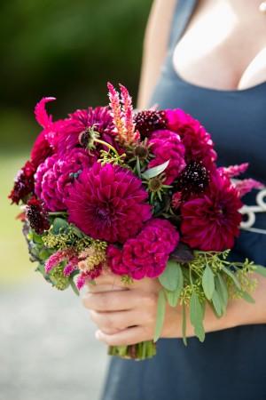 Fuchsia Dahlia Bouquet