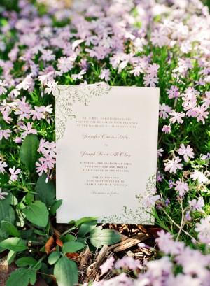 Garden Motif Wedding Invitation