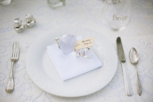 Glass Wine Bottle Stopper Place Card