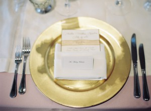 Gold Charger Reception Place Setting