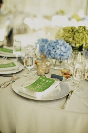 Kelly Green Reception Menu Cards 1
